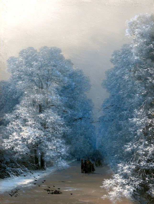 Ivan Aivazovsky - Winter landscape