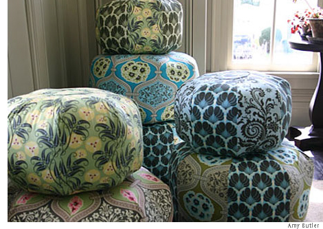 Getting It Together A Passion For Poufs Beauteous Amy Butler Pouf Ottoman