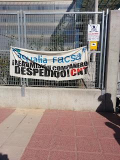 Aqualia-Facsa-readmision compañero despedido-CNT-AIT