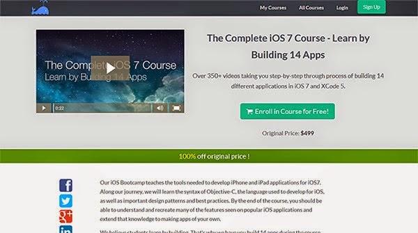 دورة إحترافية لتعلم برمجة 14 تطبيق لنظام IOS سعر الدورة 500 دولار