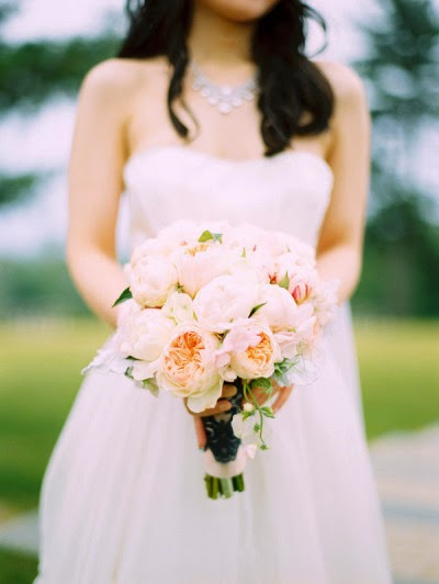 Hudson Valley Wedding - Glenmere Mansion Wedding - Peony Bouquet - Flowers, Bouquets - NY Weddings - Photos