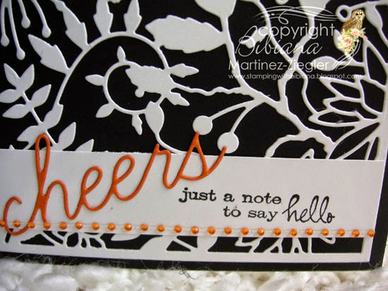 cheers with the tanglewood die detail sentiment