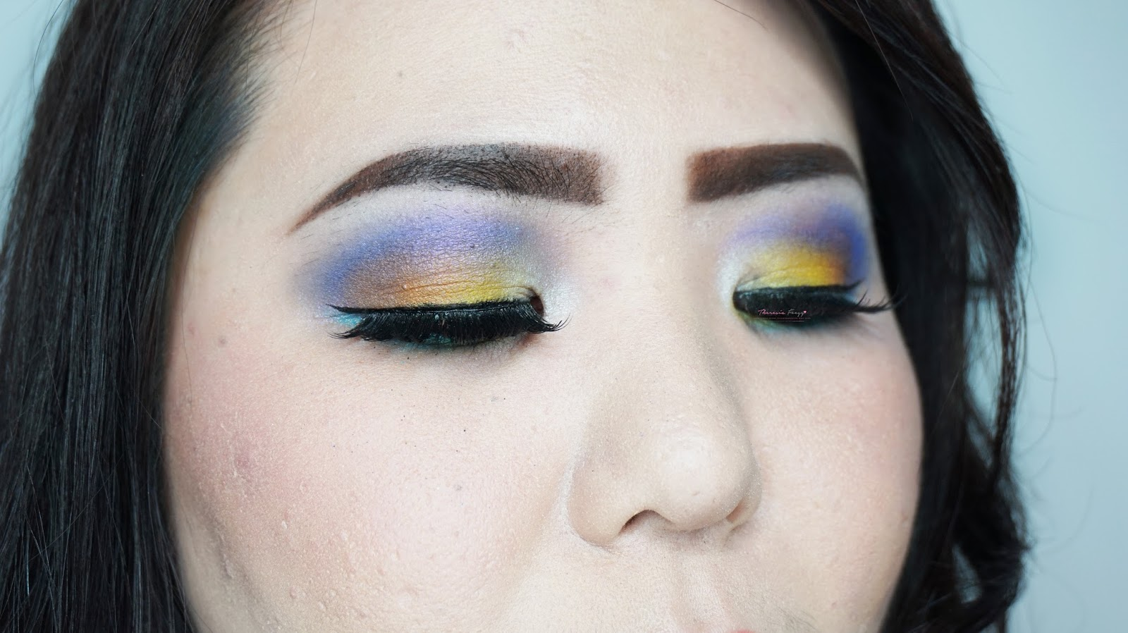 Colorful summer eye makeup tutorial using coastal scents and sephora a tutorial for colorful summer inspired makeup look purple blue and yellow eye look baditri Images