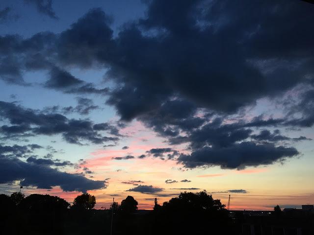 Finland night sky, Finland Midsummer night,