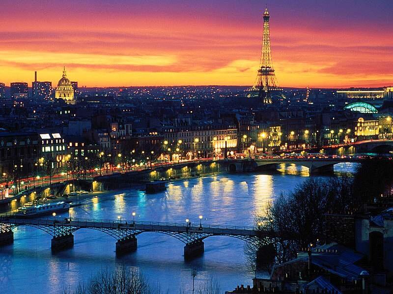 Paris france paris night