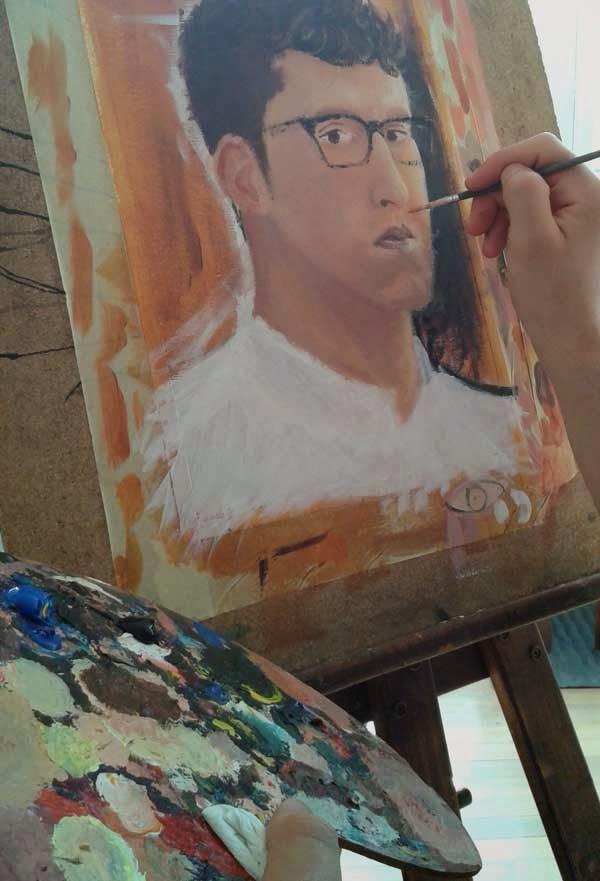 autorretrato y paleta