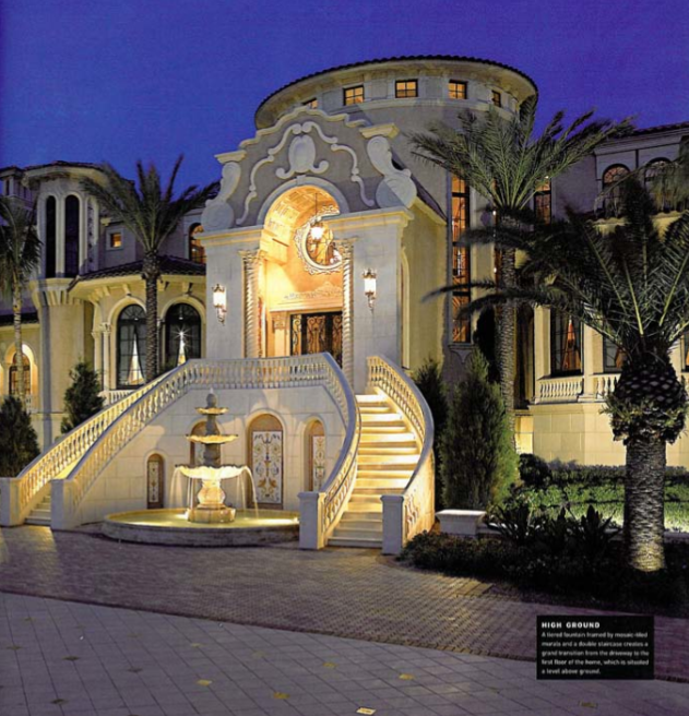 Robert Eustace S 50 000 Square Foot Waterfront Mega Mansion