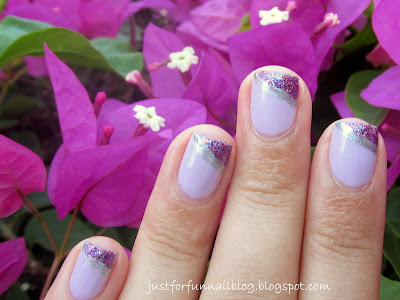 31DC2013 Day 6 - Violet Nails with  Essence 149 - hello marshmallow! & Sally Hansen 140 - Rockstar Pink
