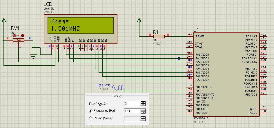 Basic Frequency Counter : Frequency meter counter using atmega or ferhat