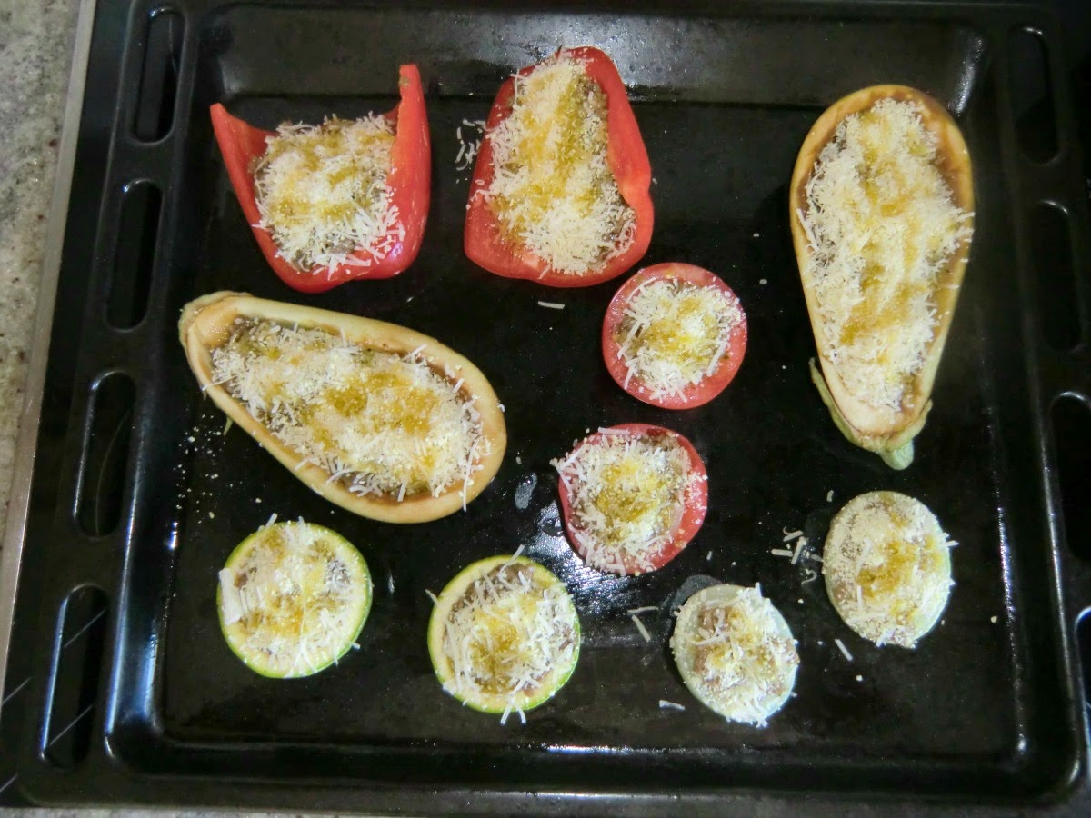 Stuffed vegetables ready to go to oven