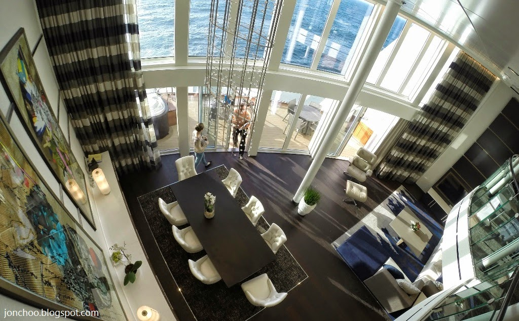 Jonchoo setting sail on royal caribbean 39 s newest smart for Balcony meaning in english