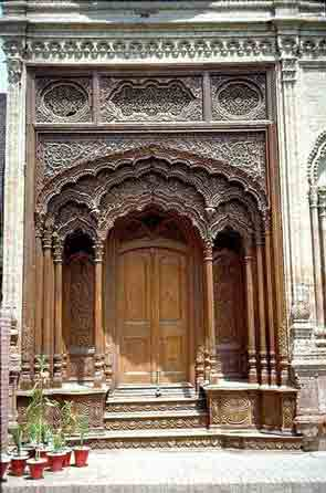 Front Door Of Umar Hayat Library Chiniot Pakistan