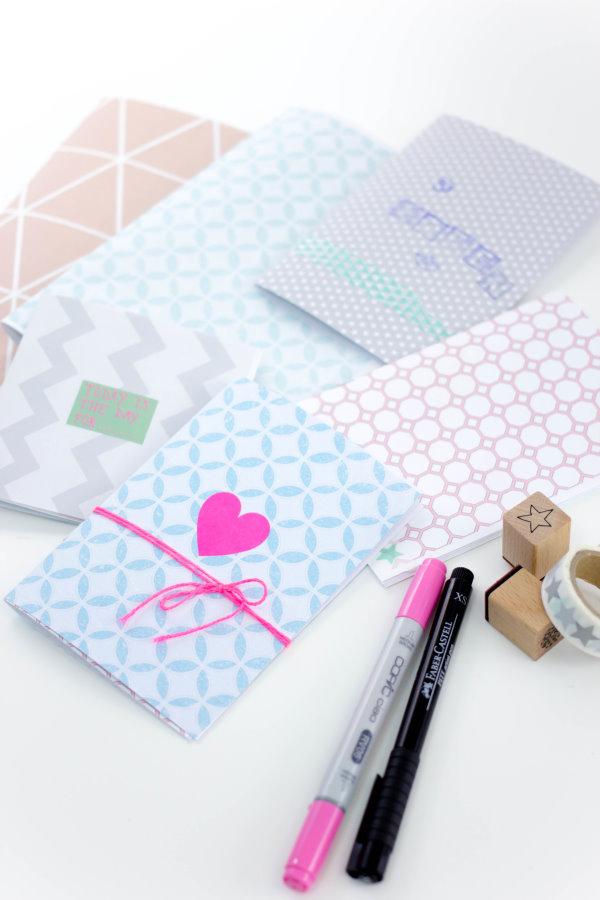 DIY Hefte - selbstgemachte Notizbücher