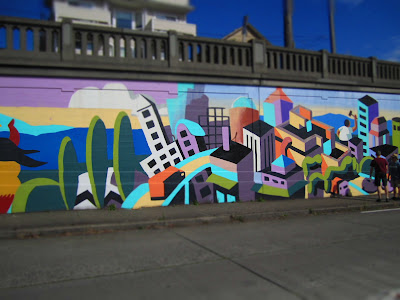 Aurora Bridge Mural (Fremont) Before and After