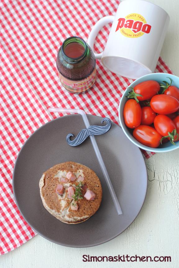 Simona'sKitchen: Mini Pancakes Salati al Grano Saraceno con Timo Citriadoria e Prosciutto Cotto per il Brunch di Domenica - Mini Savory Pancakes with Buckwheat, Citriadoria Thyme and Ham
