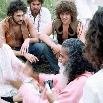 Planning the Woodstock festival in 1969 with Swami Satchidananda