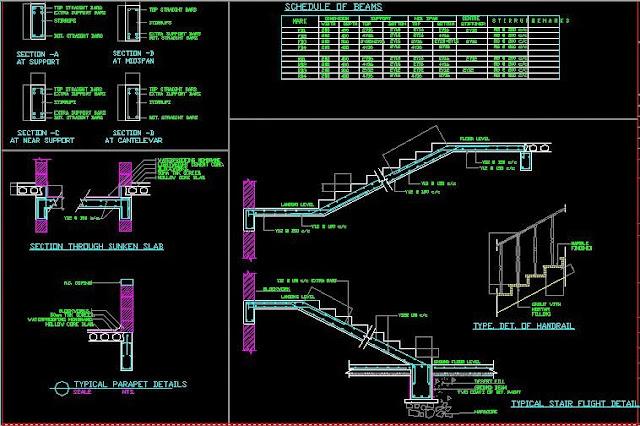 plans archi d'une villa plus plan de ferraillage