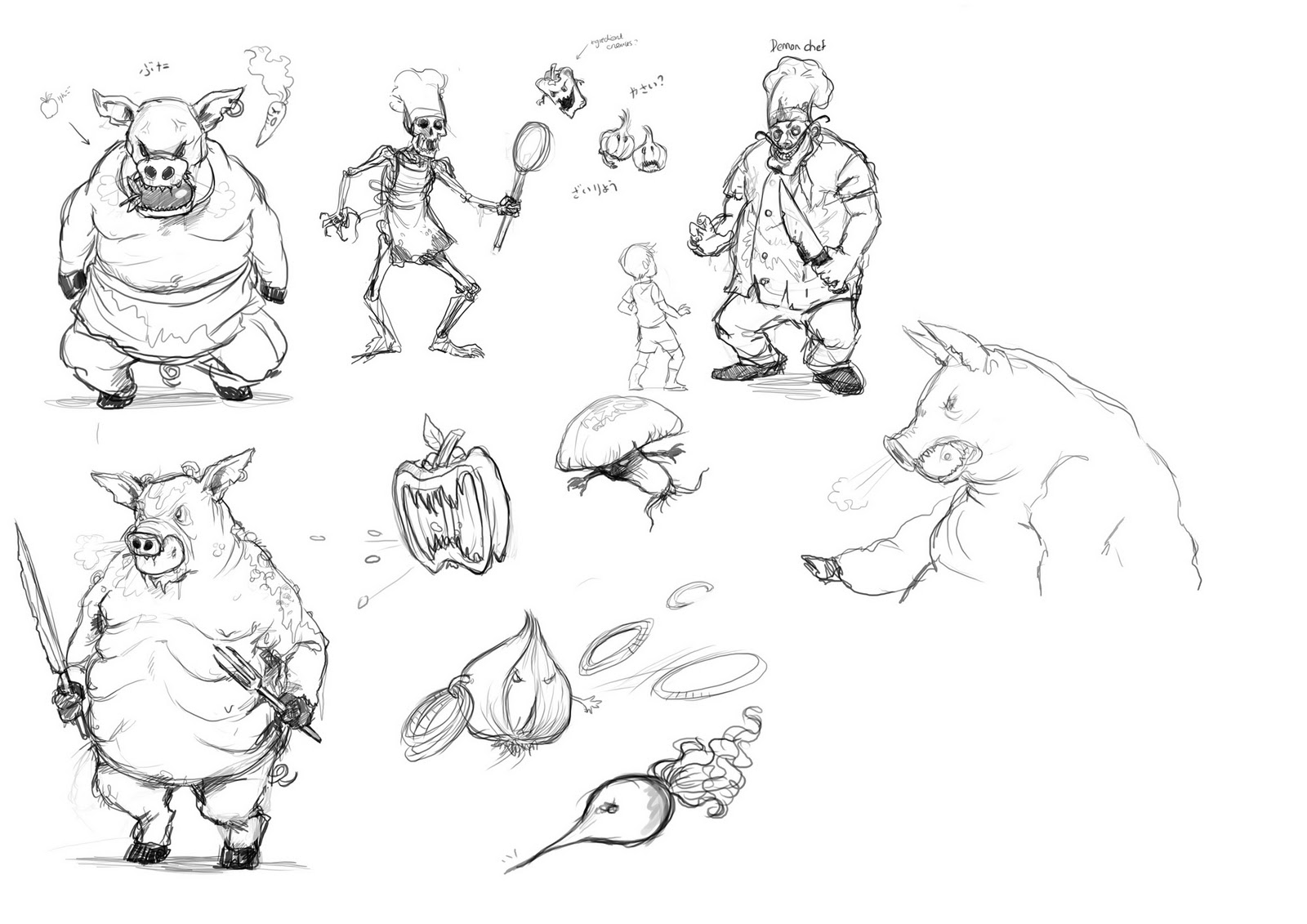 Character Design Class : Marthe sketches game character design class