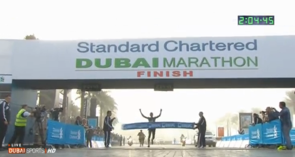 Ethiopia's Lelisa Desisa Wins 2013 Standard Chartered Dubai Marathon in 2:04:45 As A Record Five Me