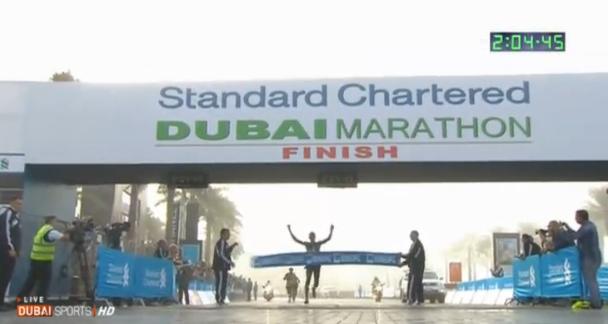 Ethiopia's Lelisa Desisa Wins 2013 Standard Chartered Dubai Marathon in 2:04:45 As A Record Five Me