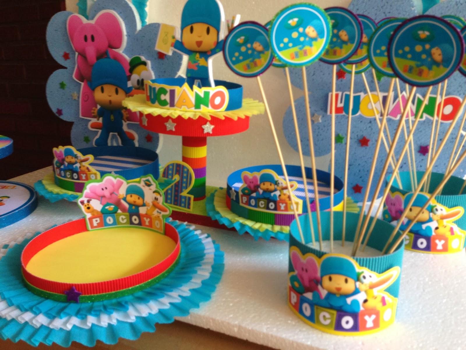 Decoraciones infantiles pocoyo - Decoracion de mesa de cumpleanos infantil ...