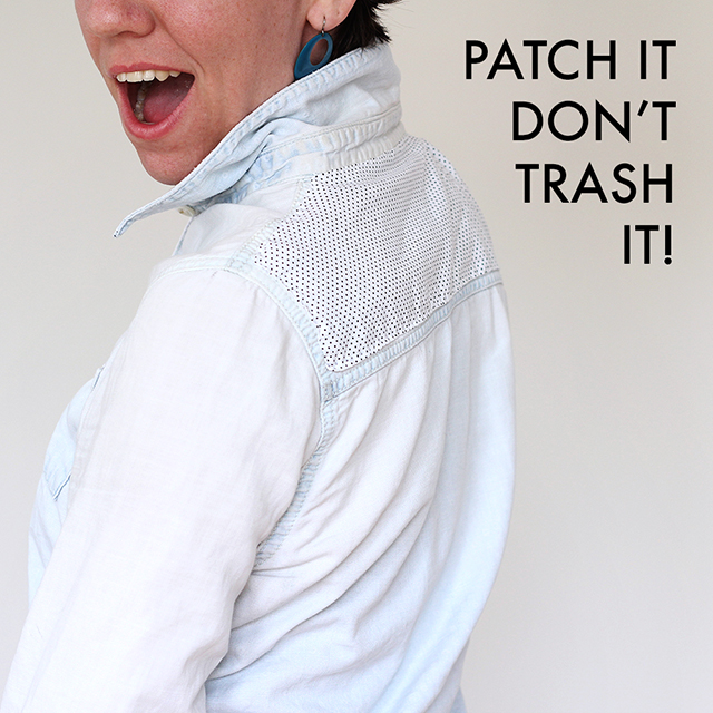 Patch it, don't trash it! - Fabric appliqué tutorial