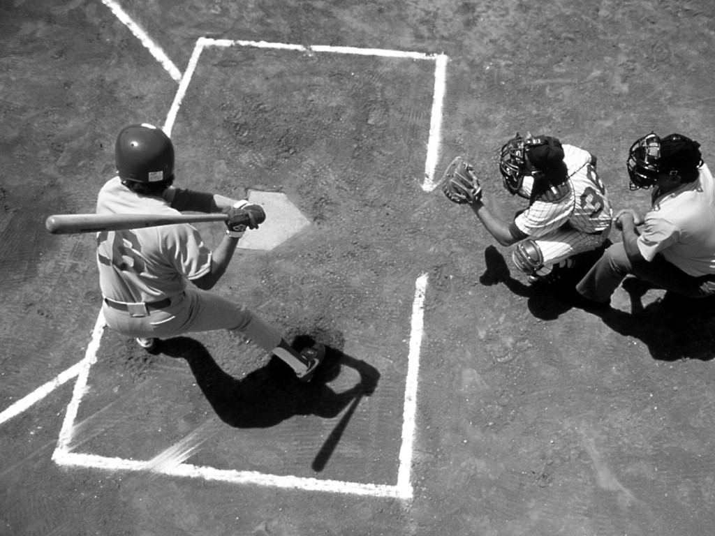 Baseball black and white HD photos
