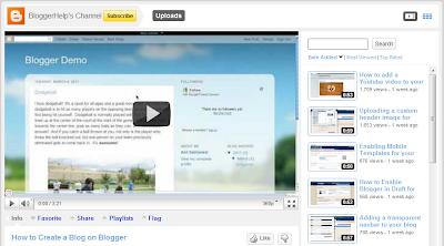 Blogger YouTube kanal, novi video materijali