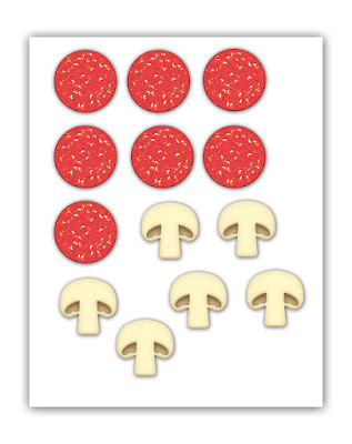 Clever image in printable pizza toppings