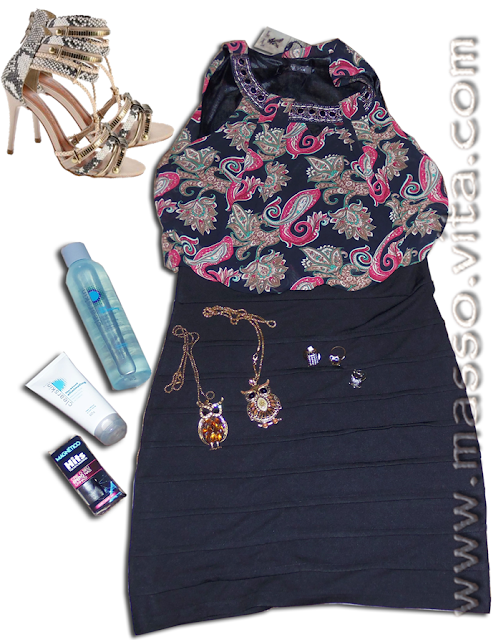 Vestido e acessórios