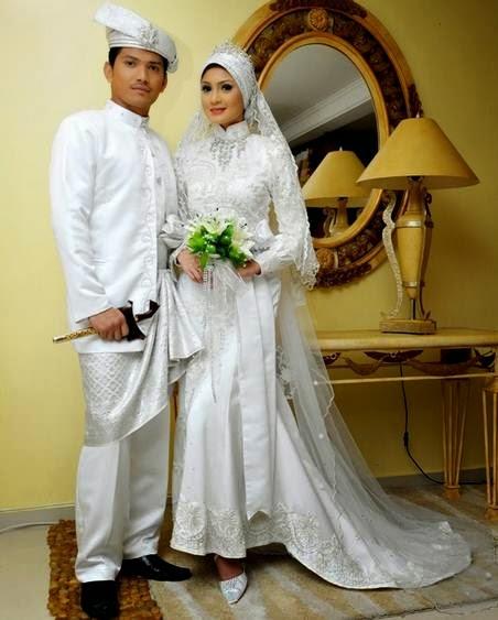 Model baju pengantin muslim modern terbaru etnik