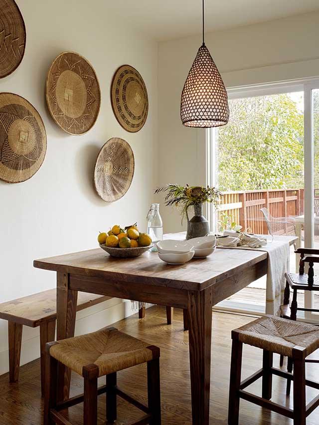 diseño interior comedor acogedor mesa de madera
