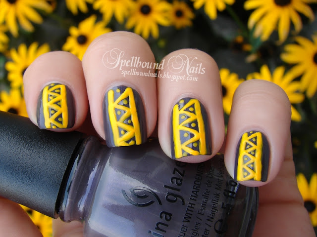 neon Sun Worshiper China Glaze On Safari collection nails nailart nail art mani manicure tribal Autumn Summer Spellbound Jungle Queen