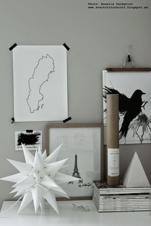 moravian star, stjärna av papper, tyskland, stjärnor, tavlor, svartvit tavla, svartvita motiv, svart och vitt, konst, konsttryck, artprint, artprints, prints, poster, posters, svart fågel, sverige, tavlor, eiffeltornet, vitt, vita,