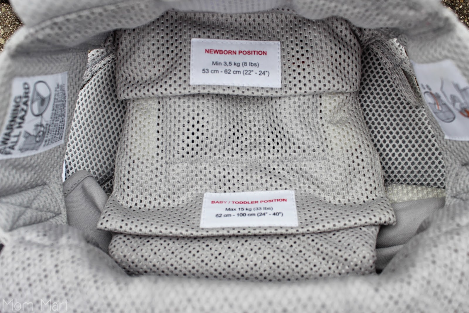 BABYBJÖRN Baby Carrier One in Silver Mesh #BabyWearing #BabyCarrierOne #OneIsAllYouNeed newborn and toddler positions
