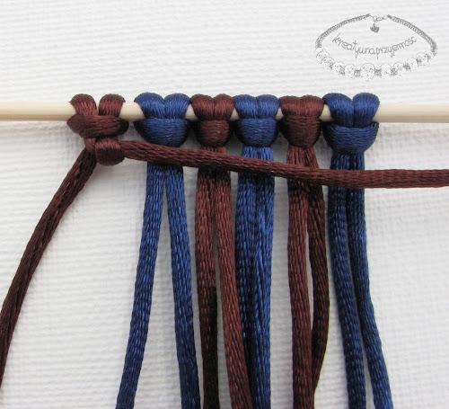 węzeł rypsowy - makrama - 7