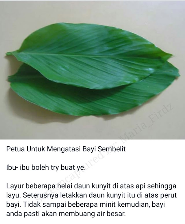 PETUA MUDAH LEGAKAN KEMBUNG PERUT DAN SEMBELIT PADA BAYI!!!