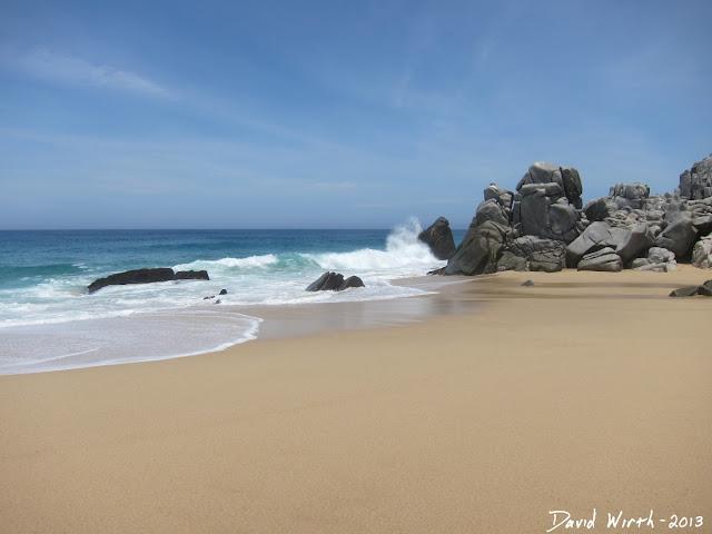 pacific ocean waves, beach, mexico