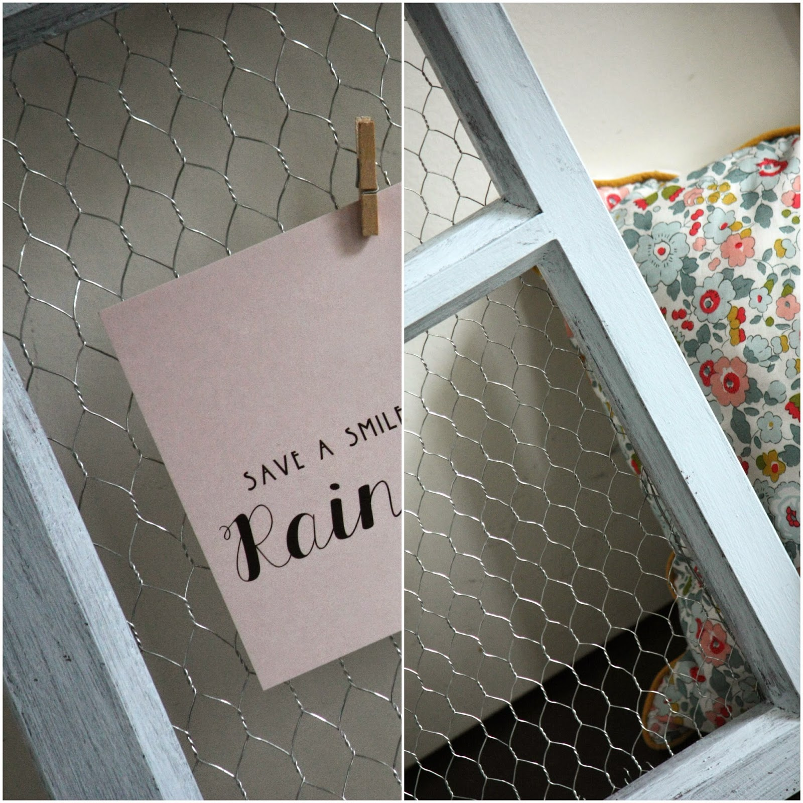 Un nouveau regard diy un porte photo tr s facile r aliser - Porte serviette a fixer au mur ...