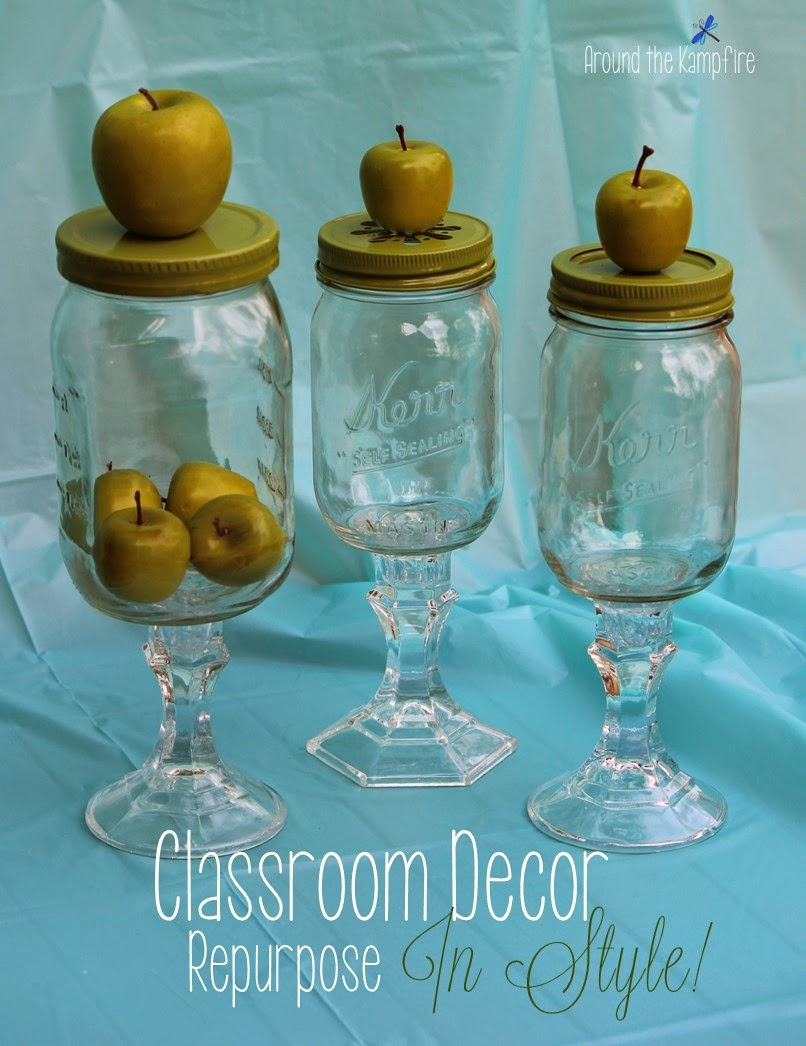 Classroom decor and teacher gifts with DIY apothecary jars