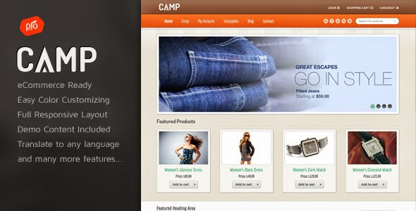 Download ThemeForest Camp - Responsive eCommerce Theme for free.