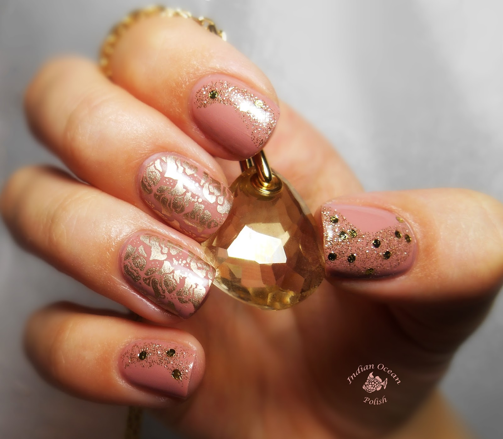 Indian ocean polish pink gold and rose nails pink gold and rose nails prinsesfo Image collections