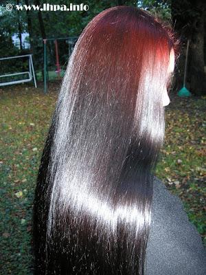 American girl with shining hair