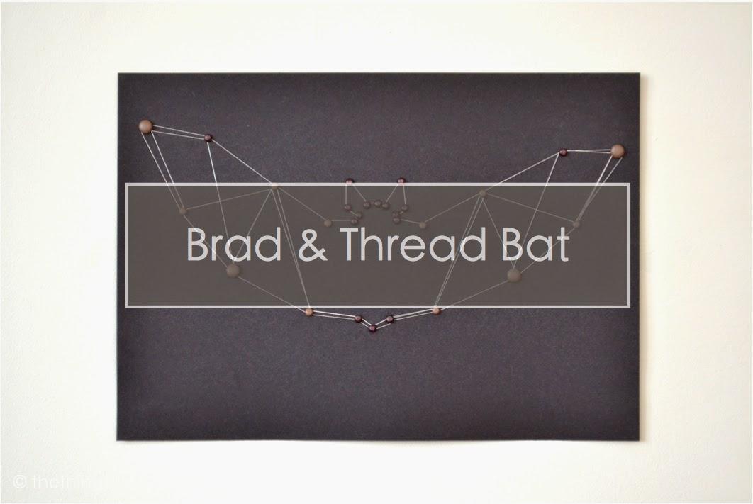 Halloween Bat Brad Thread Art The Things She Makes