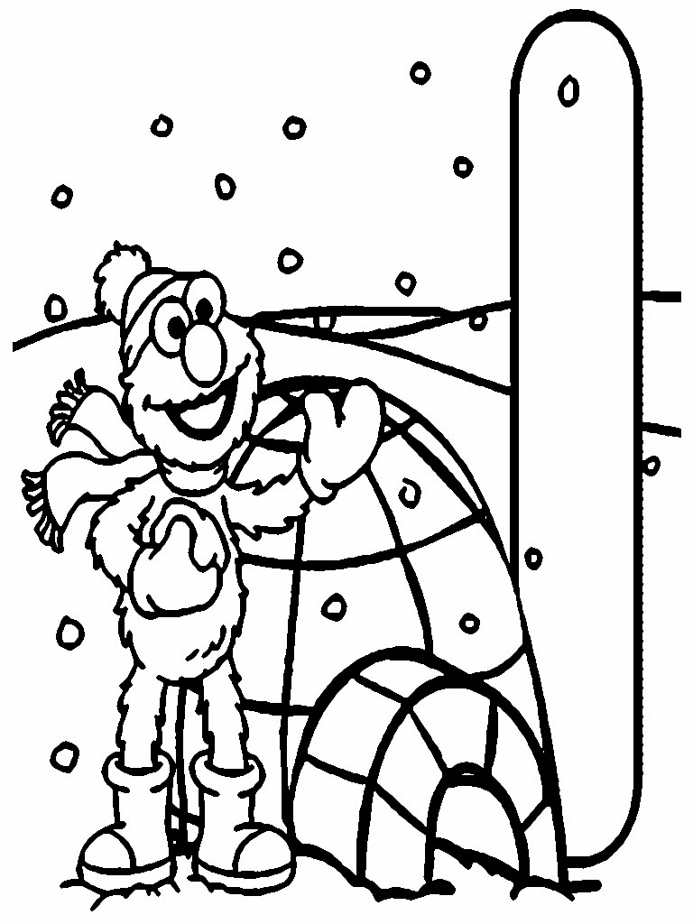 Elmo Christmas Printable Coloring Pages