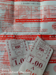Bus Tickets from Larkin to Malacca