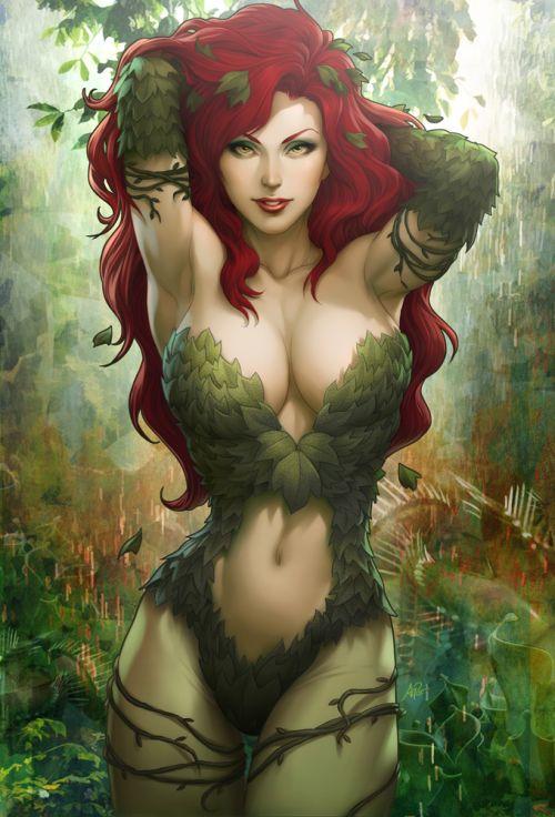 Stanley Lau artgerm deviantart ilustrações mulheres sensuais games quadrinhos Hera venenosa