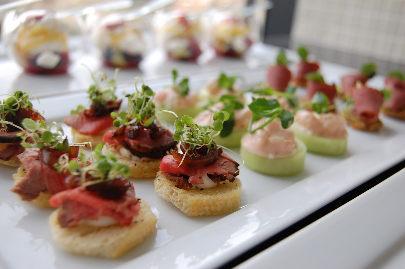 Weddings at powerscourt house canapes and starters for Italian canape ideas