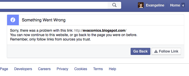 facebook block blogspot link unsafe