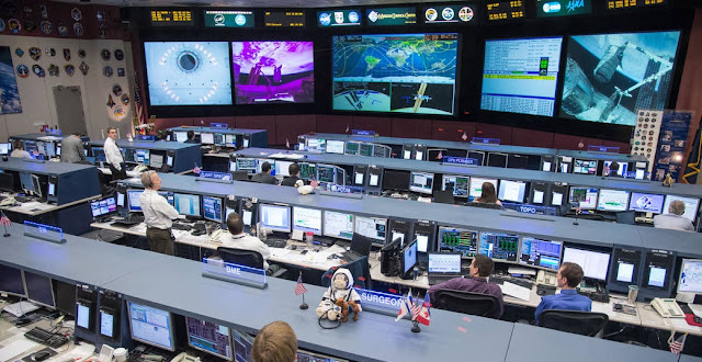 JSC's Mission Control Center. Photo credit: NASA